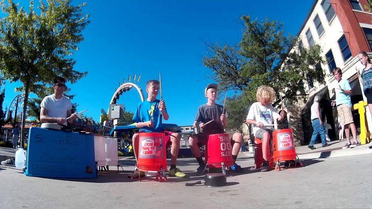 6th graders upstage street drummer @ US Coast Guard Festival Grand Haven MI