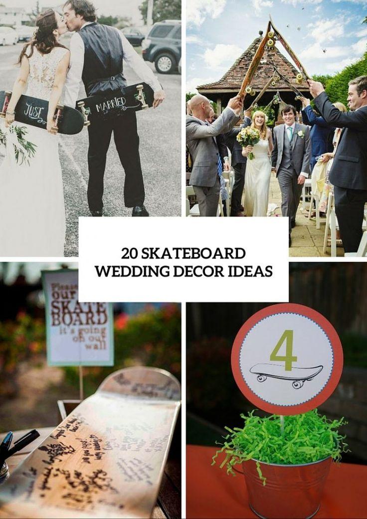 unusual wedding photos ideas%0A    Cool Ideas For A Skateboard Themed Wedding