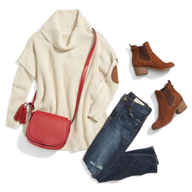 What's red, blue & cozy all around? This outfit. Ask your Stylist for seasonal staples in your Fix Note.