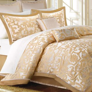 Madison Park Signature Carmichael 8 Piece Charmeuse Comforter Set