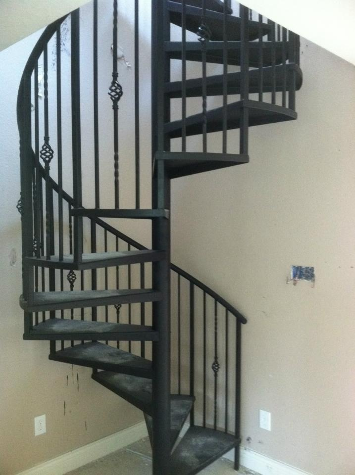 Spiral staircases spirals and staircases on pinterest - Exterior metal spiral staircase cost ...