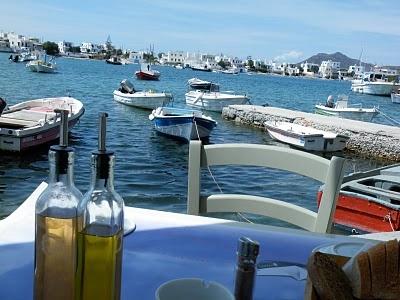 my favorite lunch spot, on the Greek island of Milos....www.livelaughlovegreece.blogspot.com