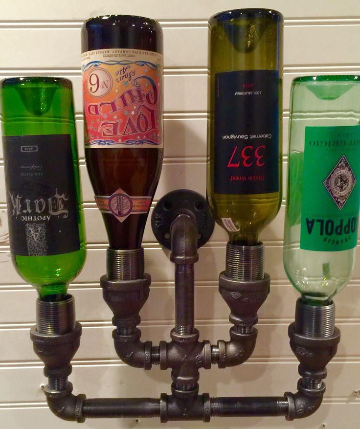 Wine Rack Liquor Bottle Rack Constructed Of Industrial