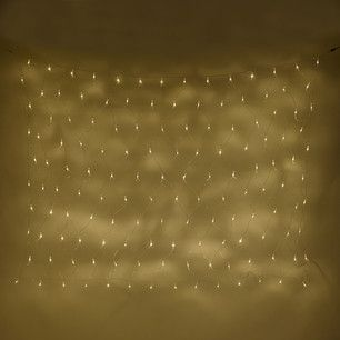 140 Warm White LED Connectable Net Light On Clear Cable 2m X 1.5m, Type U