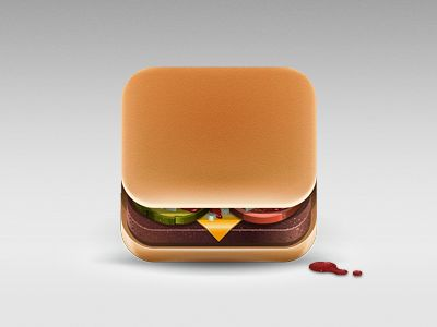 Cheeseburger: Appicon, Julian Burford, App Icons, Hamburg Icons, Icons App, Mcdonald'S Burgers, Burgers App, Icons Design, Mobile