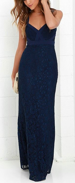 What A Doll Navy Blue Lace Maxi Dress Lace Maxi Dresses