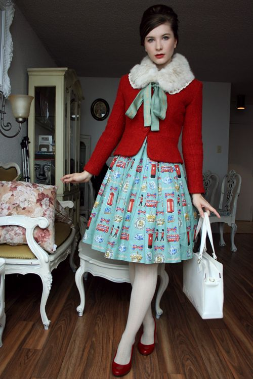 Adorable jacket. Love red with light blue.
