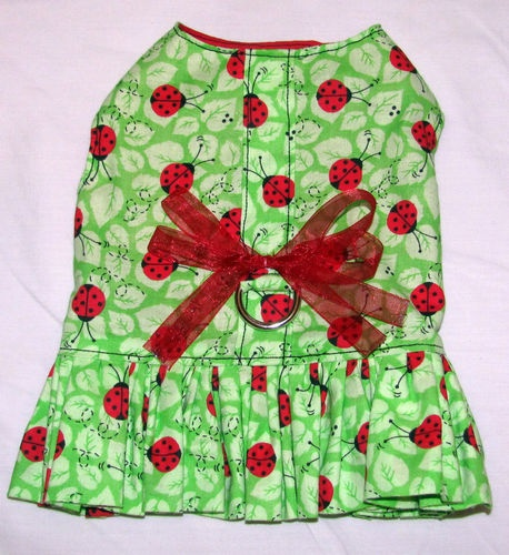 SUPER CUTE DOG HARNESS DRESS! Perfect for summer. Love ladybugs. My doggy loves the fit. Check out this seller on Ebay. Amazing! $7.98