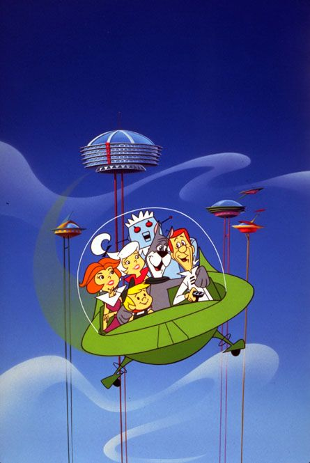 Meet George Jetson...his boy, Elroy...daughter Judy...Jane, his wife!  ps  there's Rosie too...