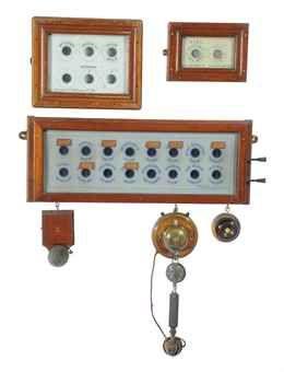 A VICTORIAN SERVANT'S CALL BOX  BY KEEBLE LTD., LONDON, FIRST HALF 20TH CENTURY