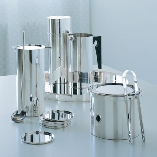 Stelton Arne Jacobsen Cylinda-Line Sterling Silver Set