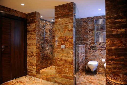 Rustic bathroom design rustic bathroom amazing natural and for Toiletten fliesen beispiele