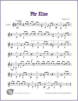 Best Guitar Sheet Music BeginnerEasy Images On Pinterest - Musical history guitar solo