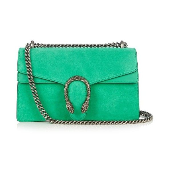 Gucci Dionysus suede shoulder bag (155,015 INR) ❤ liked on Polyvore featuring bags, handbags, shoulder bags, suede purse, suede shoulder bag, gucci crossbody, green shoulder bag and green crossbody purse