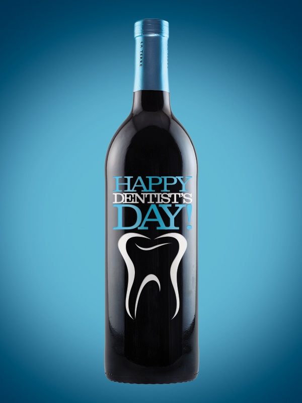 "Today is National Dentist's Day! Give thanks to your local dentist with one of our custom etched ""Thank You"" bottles!   #dentist"