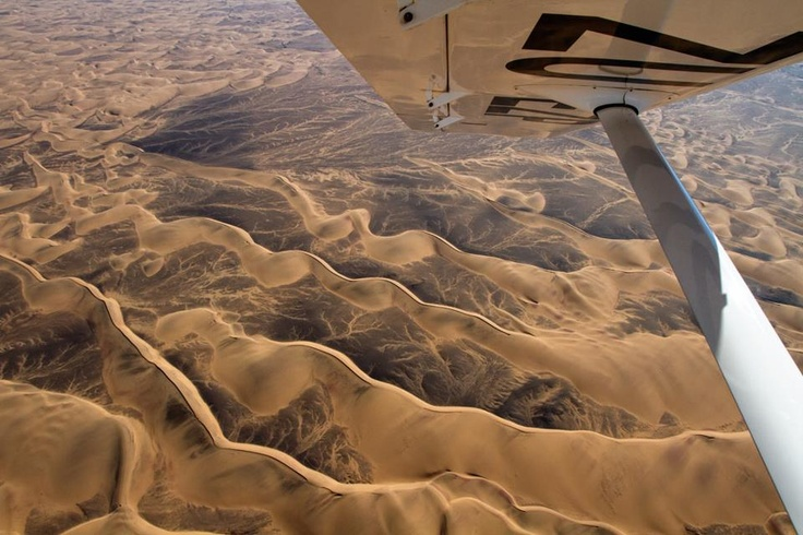 One of the most incredible and isolated landscapes we have ever flown over - these are the dune fields that are sandwiched between the stark wastes of the Skeleton Coast and the scorched mountains of the Damaraland and Kaokoveld