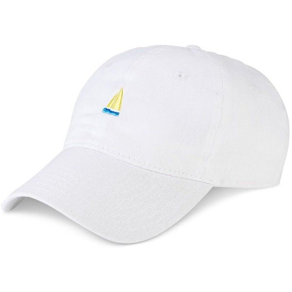 Block Hats Embroidered Cotton Dad Hat ($29) ❤ liked on Polyvore featuring accessories, hats, white, white hat, cotton hat, cap hats, embroidery caps and white cap