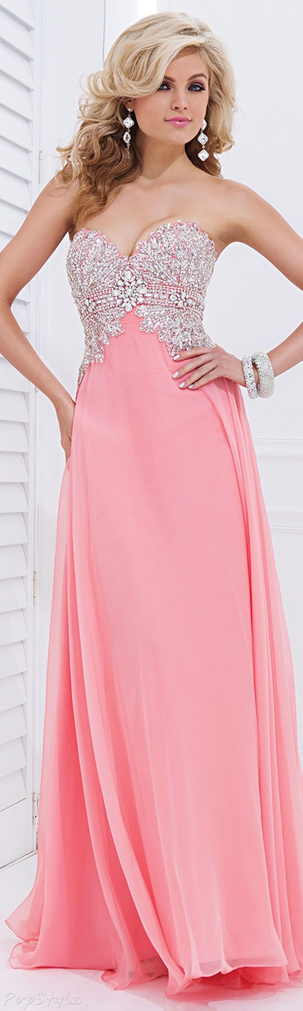 Tony Bowls TBE11416 Sweetheart Strapless Long Evening Gown