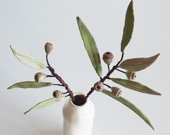 Florero de cerámica flor y tubo de ensayo por BronsCeramics en Etsy