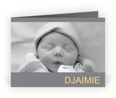 Geboortekaartje Eigen foto's maken en ontwerpen