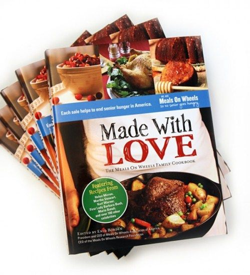 Made With Love: The Meals on Wheels Cookbook  Call 201-358-0050 to order a copy!