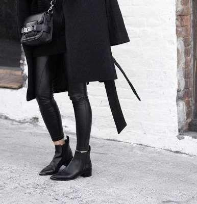 穿搭/秋冬/黑靴 black ankle boots, booties