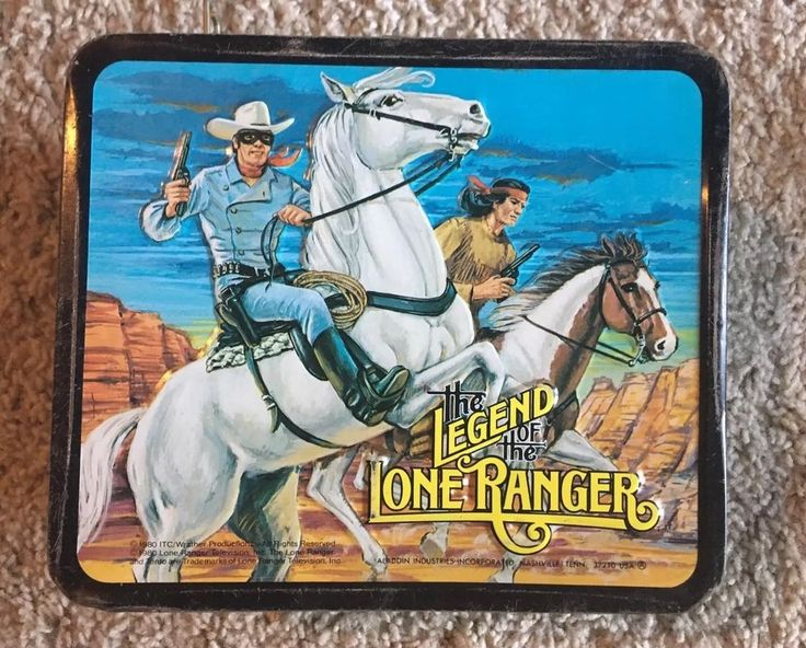 Vintage The Legend of Lone Ranger Metal Lunch Box with Thermos, 1980  | eBay
