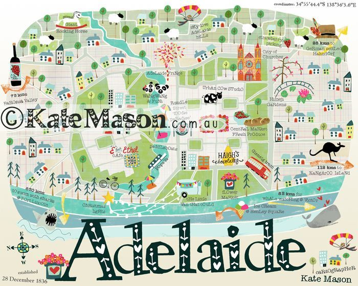 Kate Mason Adelaide Map original version Web