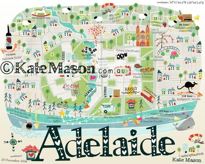 Adelaide map - Kate Mason