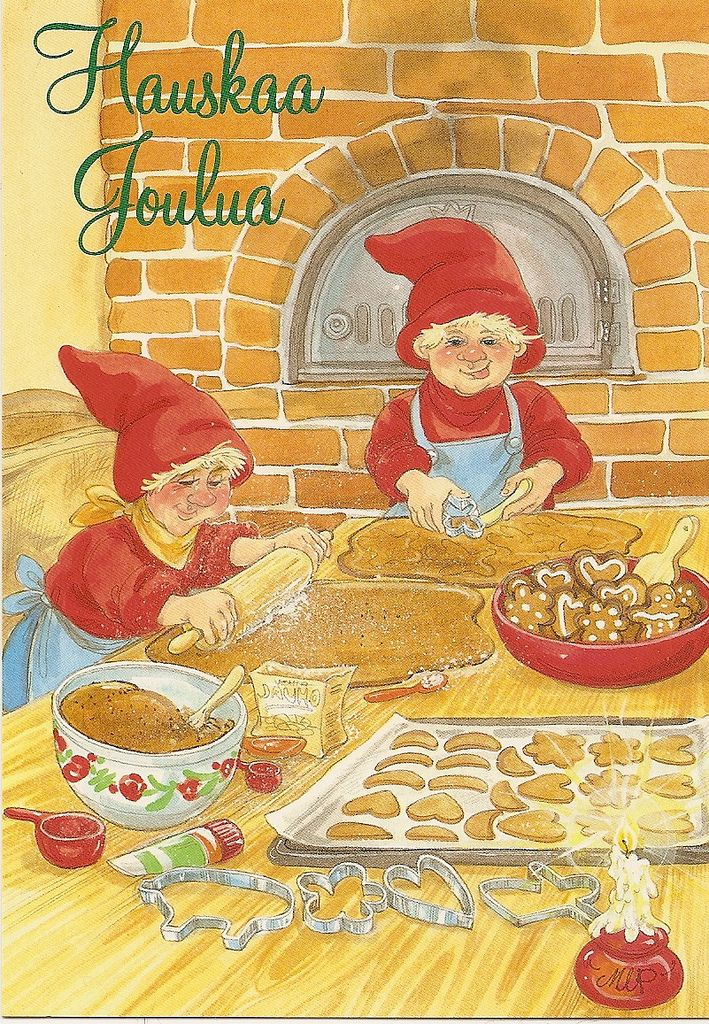 a postcard from Finland, illustrated by Marja-Liisa Pitkäranta