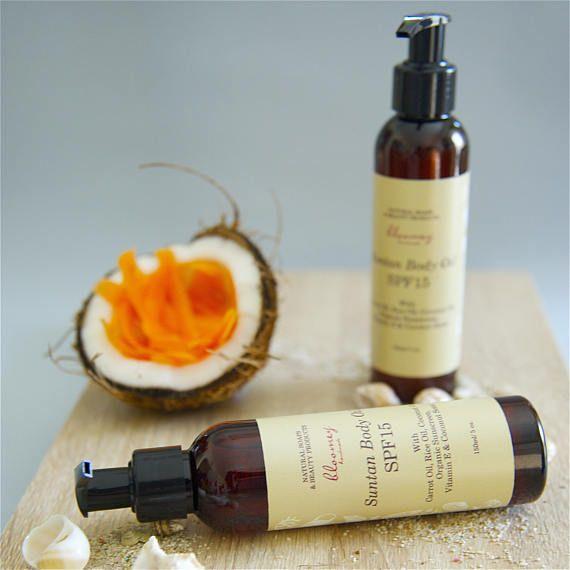 Suntan Oil Organic Suntan Lotion Deep Tan Oil Carrot Suntan