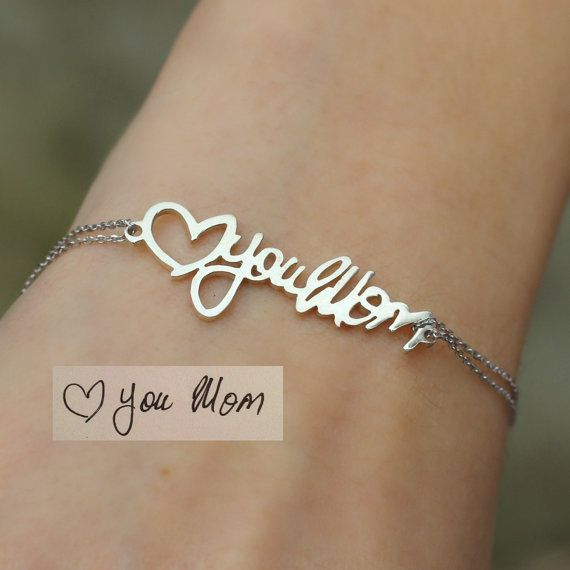 Actual Handwriting Bracelet Keepsake by anatoliantaledesign