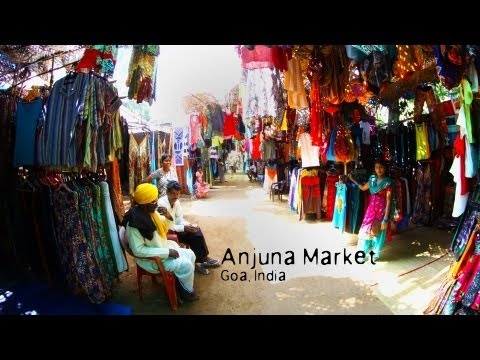 Visit Anjuna Flee Market, Goa / India The Anjuna Flee Market Goa is located at the southern end of the beach and is held every Wednesday. Its a place for locals, tourists, backpackers, Russians, Resorters, Hippies and others. A lot of hippies come to Anjuna Market to sell handmade clothing from their own designs. Be sure to visit either very ea...