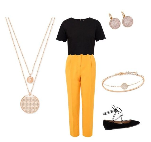 """""""Untitled #4"""" by madalina-diaconu on Polyvore featuring Topshop, Ted Baker, Swarovski and Gianvito Rossi"""