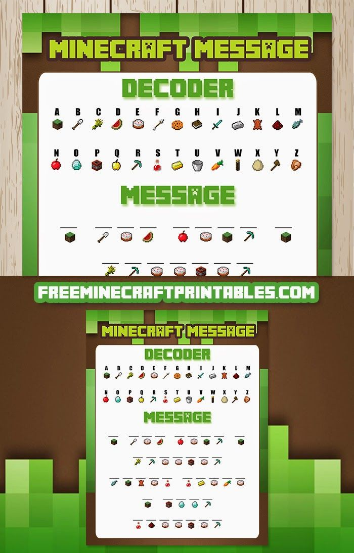 Free Minecraft Printables This site has a huge range of printable games that can keep early arrivals busy at a party while the other guests arrive.