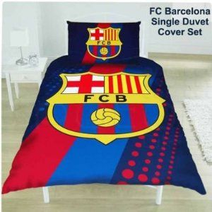 FC Barcelona Single Duvet Set 100% Polyester Microfibre Suitable for a Single Twin Bed Includes One Pillowcase