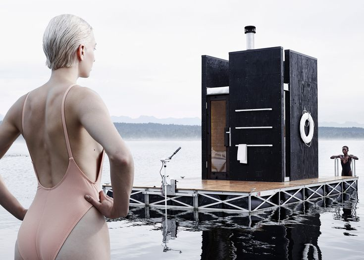 Visitors can take a plunge into a cold lake after warming up in this floating wooden sauna by Seattle firm goCstudio – the latest example of the trend for buoyant architecture.