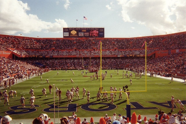 Not at this game but UF VS UCF back in 2007 and two gator growls (06 & 07) and used to walk in this stadium.