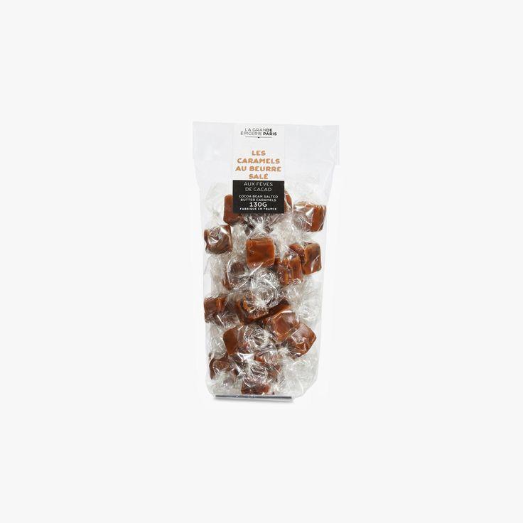 Sachet de caramels au beurre demi-sel et aux fèves de cacao - La Grande Epicerie de Paris - Find this product on Bon Marché website - La Grande Epicerie de Paris