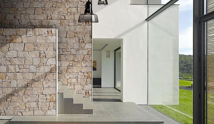 Stonepanel nilo panel de piedra caliza de tonalidades crema con surcos dorados y color tierra - Piedra natural para interiores ...
