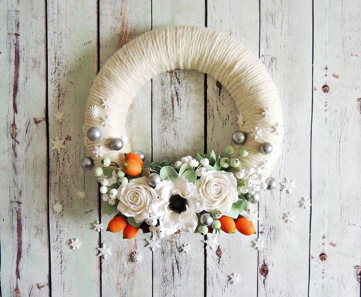 Oltre 25 fantastiche idee su ghirlanda bianca su pinterest - Ghirlanda di natale per porta ...