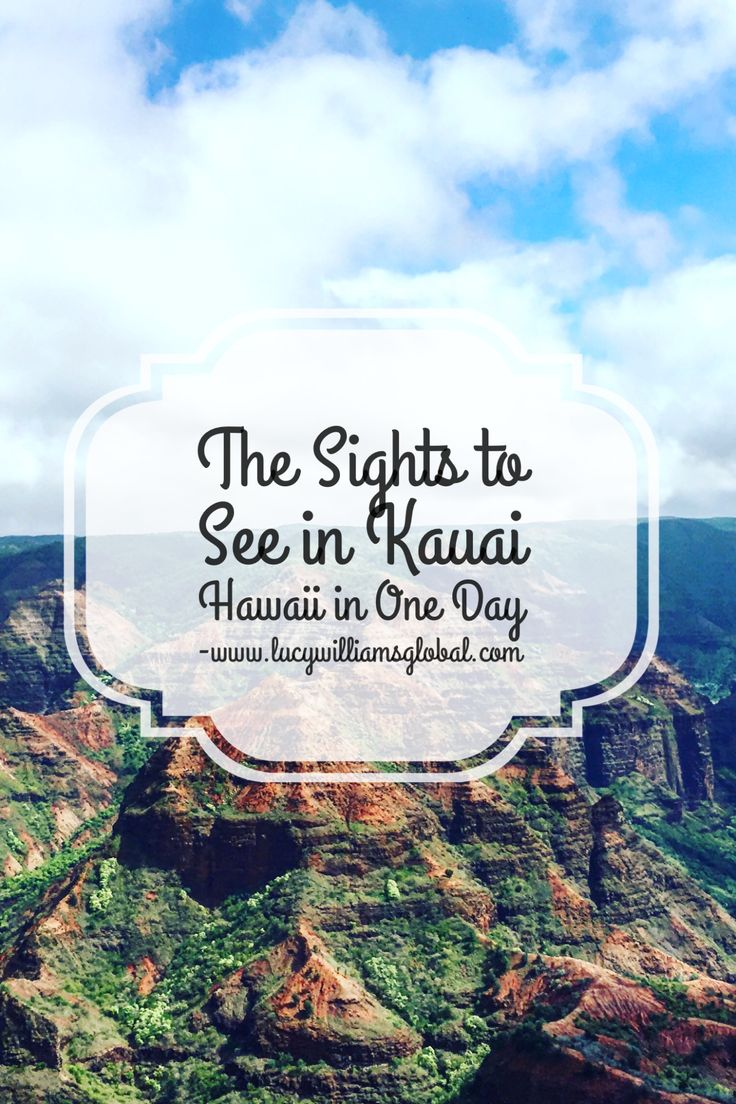 The Sights to See in Kauai Hawaii in One Day - What can you see in one day? Lots! The spectacular Waimea Canyon, the Spouting Horn, Opaekaa Falls, the Wailua River and the Fern Grotto #kauai #hawaii #usa #cruisetips