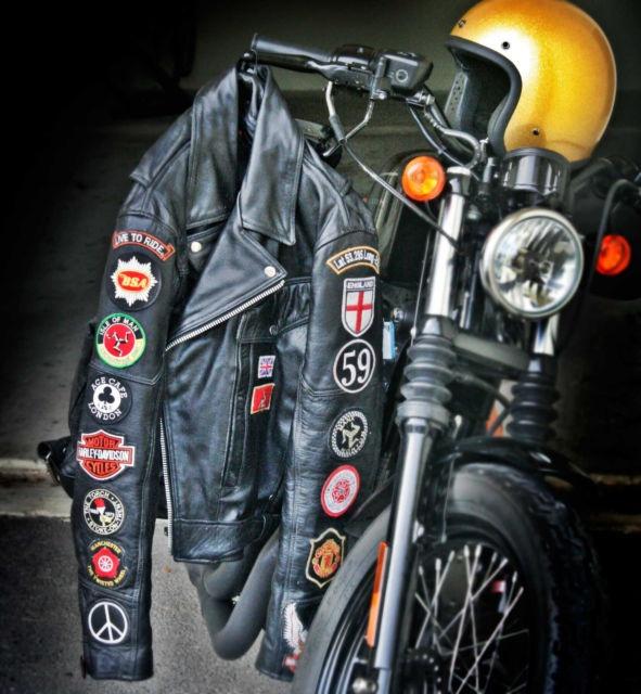 Black Leather Motorcycle Jacket | eBay $159.99