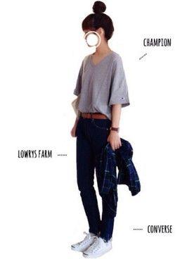 tumのコーディネート一覧(114)です。BEAMS BOYやCONVERSEを使った私服や着こなしを見ることができます。