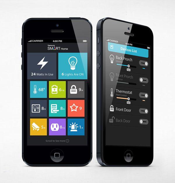Samsung Smart Home App Concept by Ali Rahmoun, via Behance