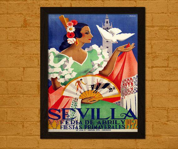 Impression de voyage Vintage  Feria de Sevilla par VoyagesVoyages