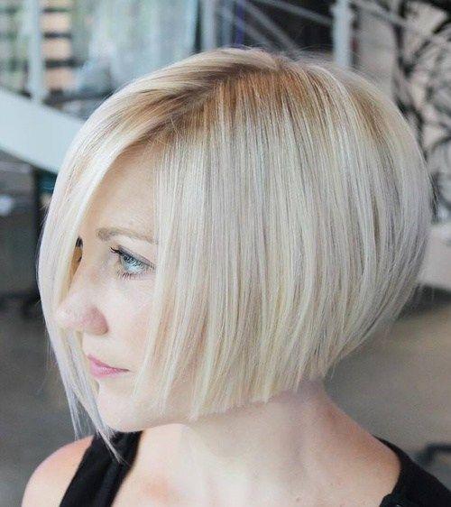 Frisur kinnlang blond