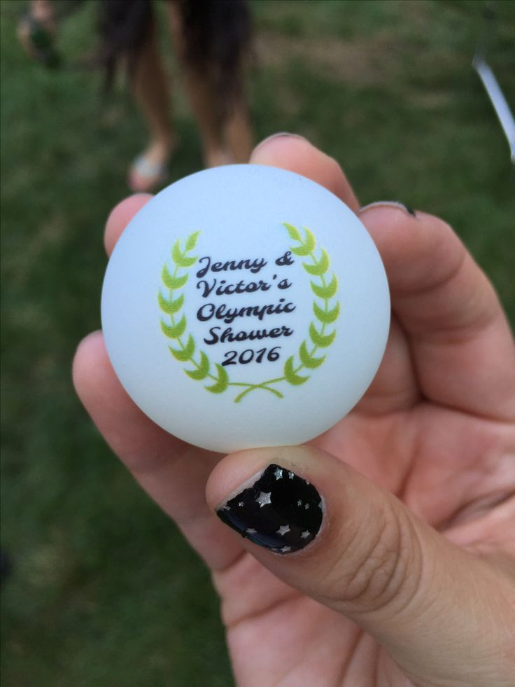 Olympic themed ping pong ball for Beer Pong Olympic event provided by Personalized Ping Pong Balls