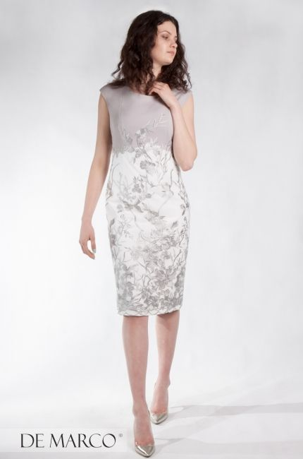 62bc6d6bc7 Srebrna sukienka dla mamy wesela. Sukienki De Marco sklep internetowy.   demarco  frydrychowice