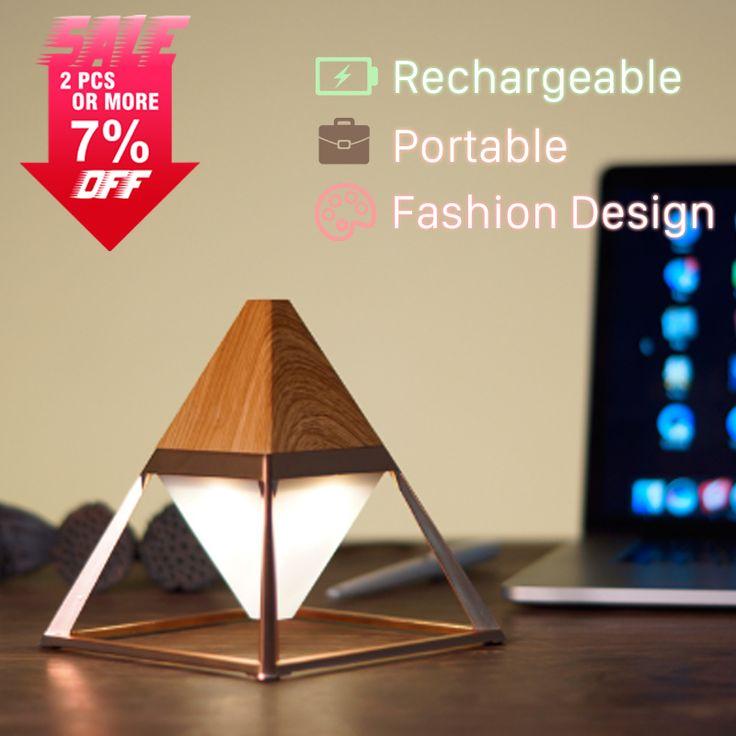 Новый Дизайн Мини Пирамиды USB Rechangable СВЕТОДИОДНЫЕ Украшения Гостиная Настольная Лампа Современная Спальня Лампы LED купить на AliExpress